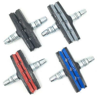 V Brake Pads Threaded Nut & Washers Bike Replacement Break Blocks All Colours • 3.99£