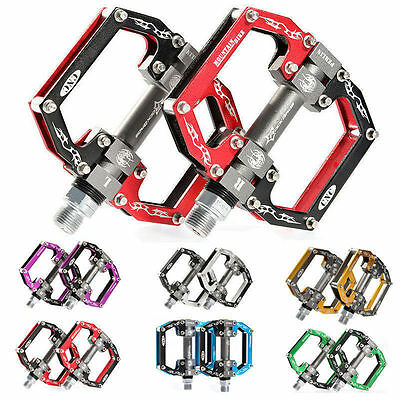 ROCKBROS Bike Bicycle Pedals Cycling Sealed Bearing Pedals Flat/Platform Pedals • 25.99£