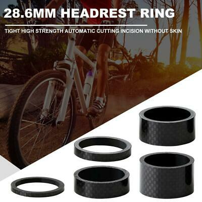 5pcs/set 28.6mm Carbon Fiber Washers MTB Bike Bicycle Headset Stem Spacers • 4.64£