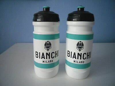 BIANCHI WATER BOTTLE MILANO CELESTE WATER  X 2  550ml Or 750ml • 13.99£