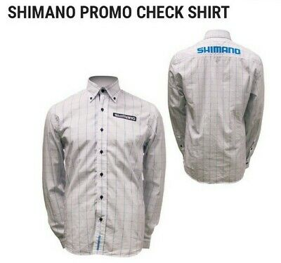 New With Tags Shimano Promo Check Long Sleeve Shirt - Large 100% Cotton Cycling  • 27.50£