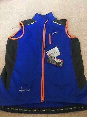 Mens Cycling DHB Flash Light Gillet, Medium, Blue, New With Tags • 3£