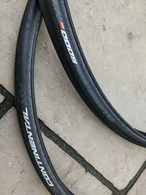 Pair Of Continental Grand Prix 5000 700 X 25 Folding Clincher Tyres • 25£