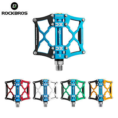 RockBros Road Mountain Bike Pedals 3 Sealed Al Alloy Bearing  New UK STOCK • 20.88£