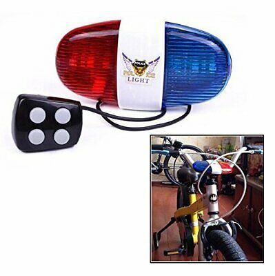 Kids Cycling Bike Accessories Electric Horn 4 Sounds Bicycle Siren Lights • 6.29£