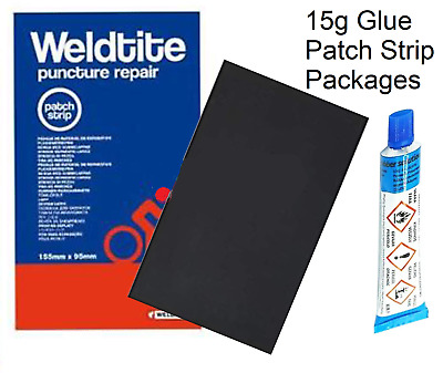 Weldtite 15g Repair Rubber Solution Patch Strip Glue Adhesive Puncture Packages • 3.65£