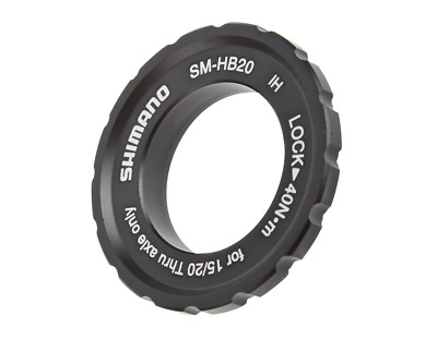 Centerlock Rotor Lock-Ring Shimano SM-HB20 For 15mm / 20mm Through-Axle Hubs • 10.99£