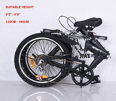 Foldable Bicycle 20 Inch Suspension - New Design - Quality Product 6 Speed • 150£