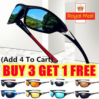Unisex Polarized Sports Sunglasses UV400 Protection Bike Cycling Driving Eyewear • 5.99£