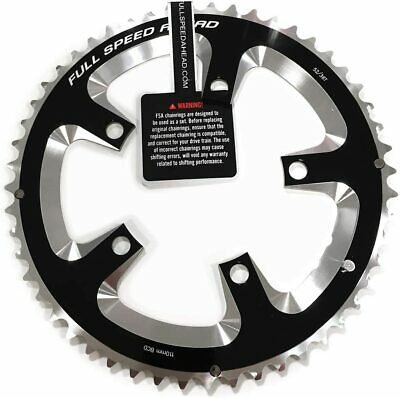 Fsa Super Type Road Chainring - 110bcd - 50t - 11 Speed - Black/silver - 5 Arm • 43£