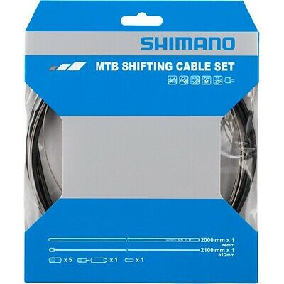 Shimano Gear Cable Set Mountain Bike Stainless Steel Inner Black • 10.99£