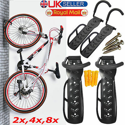 1X To 8X Steel Bike Rack Stand Storage Wall Mounted Hook Hanger Bicycle Holder • 10.89£