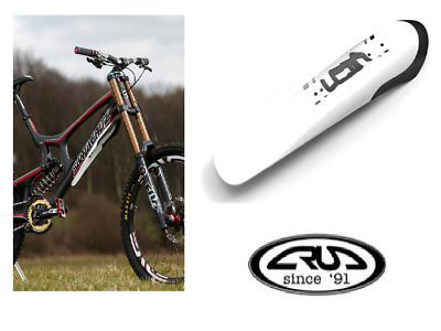 Crud Catcher Mountain Bicycle Downtube Mounted Front Mudguard - White • 8.99£