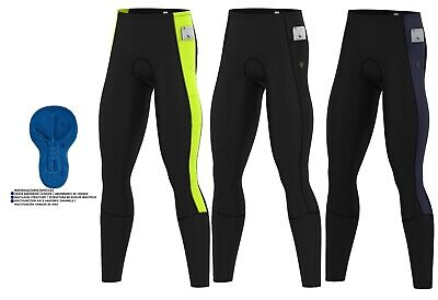 Mens Cycling Tights Winter Thermal Cold Wear Padded Legging Cycling Trouser • 19.95£