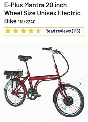 E Plus Red Mantra City Electric Bike Bicycle 20  UNISEX  • 350£