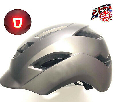 Bicycle Helmet With LED Light Unisex Protective Bicycle Helmet For Cycling 57-62 • 12.99£