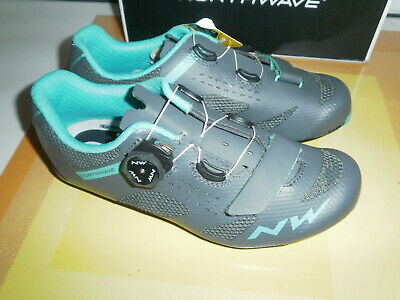 Northwave Storm Wmn Spd-sl Cycling Shoes Size 6 (eu39) Anthra/aqua New • 25£