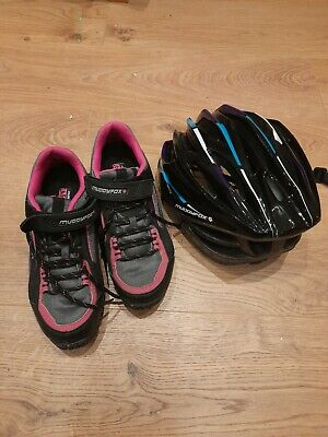Muddy Fox Ladies Cycle Shoes Pink Size 6 With Helmet • 15£