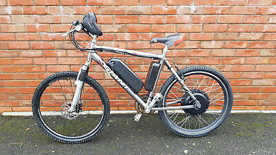 48v -1000W  E-bike, 26  Wheels, New 13Ah Battery - Silver With New Parts • 830£