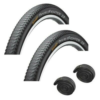 Continental DOUBLE FIGHTER 27.5 X 2.0 MTB Slick Fast Road Mountain Bike Tyres • 37.95£