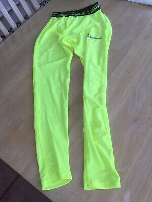 Didoo Size Large Fluorescent Yellow Mens Compression Pants.                E • 4£