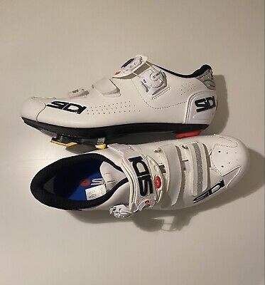 Sidi Alba 2 Womens Carbon Cycling Shoes White/ Silver (Size 42 But Will Fit 6.5) • 70£