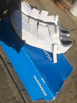 Shimano RP3 Dynalast Cycling Road Shoes SPD & SPD-SL White. Size 36 Euro • 21£