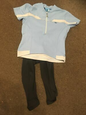 Size 8 / S Cycling Kit Women's 3/4 Cycling Leggings And Karrimor Jersey • 2.50£