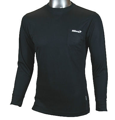 New Cycling / Fitness Coolmax Long Sleeve Baselayer Top -  Black • 35.99£