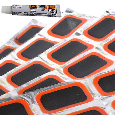 48pcs Rubber Puncture Patches Bicycle Bike Tire Tyre Tube Repair Patch Kit Glue • 3.95£