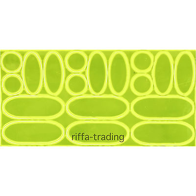 Hi-Vis Stickers, Bike, Bicycle, Cycling, Reflective, Reflector, Safety, High Viz • 1.95£