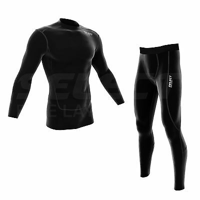 Select Mens Compression Thermal Baselayer Top And Legging Running Skin Fit • 11.99£
