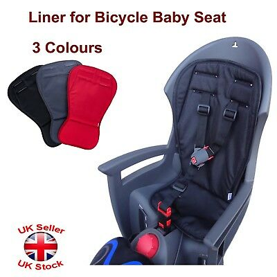 Liner For Children Baby Kids Bike Bicycle Cycle Rear Seat Carrier 3 Colours • 9.47£