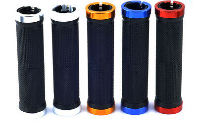 Double Lock On BMX MTB Mountain Bike Bicycle Cycling Handle Bar Handlebar Grips • 6.99£