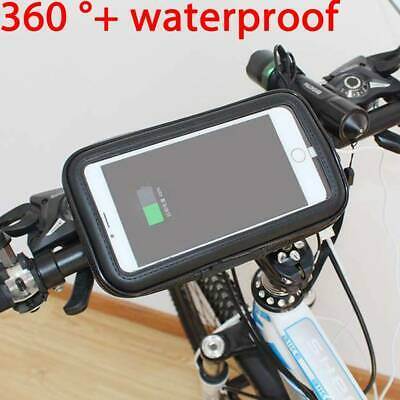 Waterproof Motocycle Bike Cycle GPS SAT NAV Leather Case Mount Phone Holder  • 5.79£