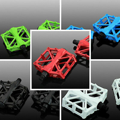 2X Mountain Bike Pedals Flat Platform Aluminum Alloy Sealed Bearing Pedals • 6.49£