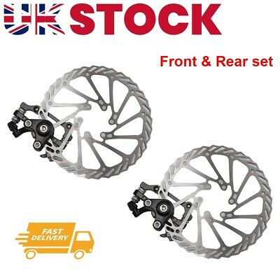 2x Mechanical Front & Rear Caliper Mountain Bike Bicycle Disc Brake Rotor 160mm • 12.99£