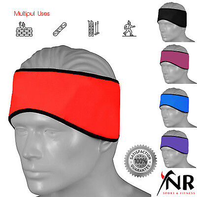 Cycling Headband Ear Warmer Thermal Windproof Running Head Band Once Size • 3.99£