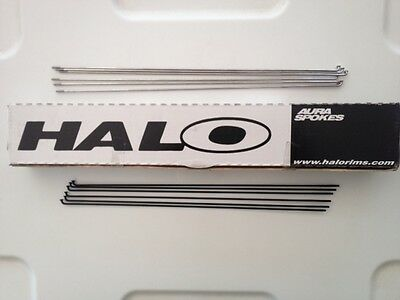 Packs Of 18 Black Butted, Stainless Steel, Bicycle Spokes & Nipples: Halo/Sapim • 14.49£