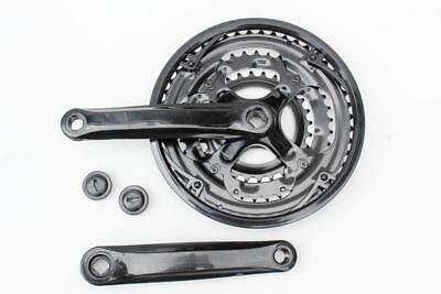 Steel Triple Chainset Chainwheel 28/38/48, 170mm Cranks Black 15/18/21 Speed • 18.95£