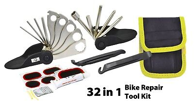 Bicycle Cycling Puncture Bike Multi Function Tool Repair Kit Set With Pouch • 6.49£