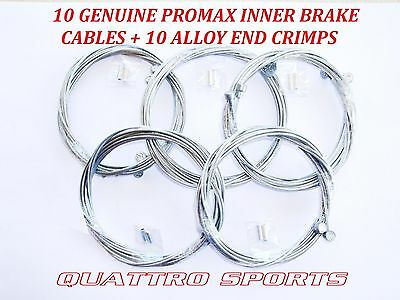 BRAKE CABLE 10x MOUNTAIN BIKE CYCLE INNER WIRE REAR BARREL END BICYCLE • 6.95£