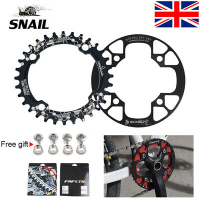 104bcd MTB Bike Chain Guards 32-42T Chainring Protection Cover Crank Set Guard • 10.97£