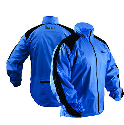 CYCLING JACKET HIGHLY VISIBILE Blue  WATERPROOF Top Quality Heavy Rain Cover • 14.99£