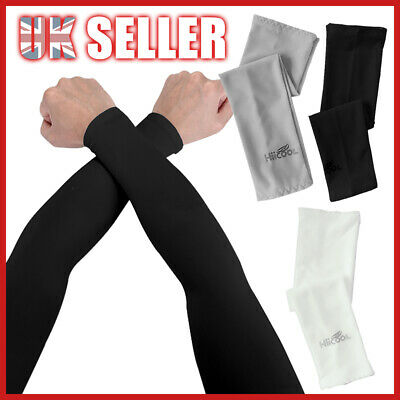 1 Pairs Sun UV Protection Cycling Stretch Sleeves Golf Arm Cooling Covers Sport • 2.85£