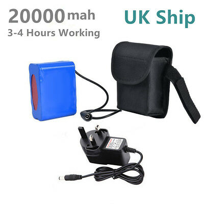 UK Ship 20000mAh 8.4V Rechargeable Battery Pack For T6 Bicycle Bike Light Lamp • 19.99£