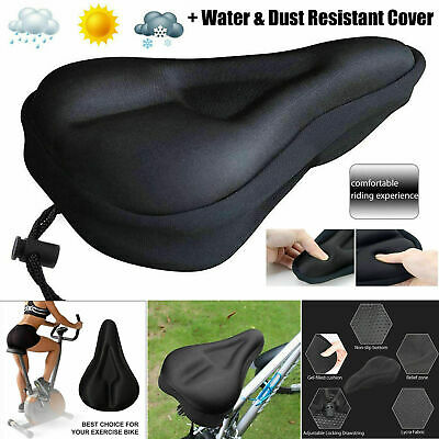 Bike Bicycle Seat Saddle Cover Extra Comfort Padding Soft Gel Cushion Gym Sores • 5.49£