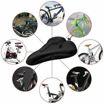 Bike Cycle Bicycle Extra Comfort Gel Pad Cushion Cover For Saddle Seat Comfy UK • 4.49£