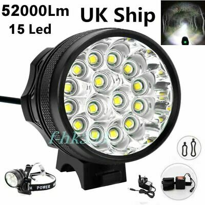 52000Lm 15x LED Cree XML Waterproof T6 Bicycle Bike Light Cycling Headlight Lamp • 29.99£