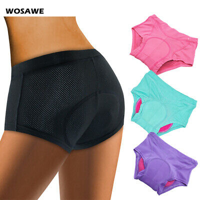 Ladies Cycling Underwear Sports Triangle Briefs Shorts Pants Gel Padded Colorful • 6.95£